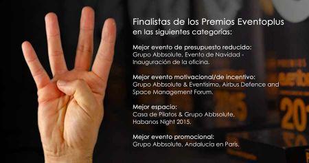 Grupo Abbsolute obtiene cuatro galardones en los Premios Eventoplus 2016